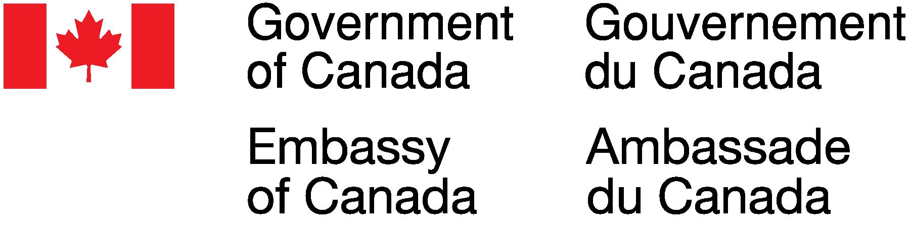 Velvyslanectví Kanady v České republice logo/Embassy of Canada to Czech Republic logo