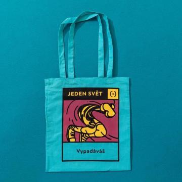 Festivalové tašky ze 100% organické bavlny s potiskem veselého vizuálu festivalu od české grafické dílny Gringo.